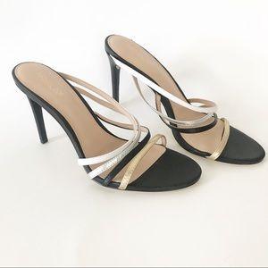 Rachel Zoe Hailey Leather Strappy Heels Mules 8